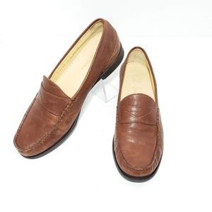 Cole Haan Penny Loafers Brown Leather Size 9B